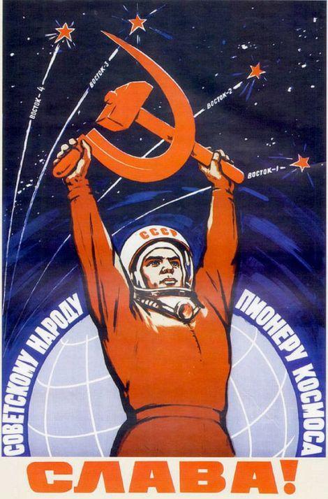 Gloria alle genti sovietiche! Pionieri dello spazio
