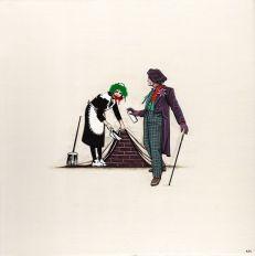 Joker deturpa un Banksy