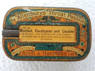 Pastiglie per la gola alla cocaina